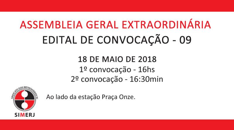 EDITAL DE CONVOCAÇÃO – AGE 009