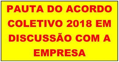Pauta do ACT 2018 EM DISCUSSÃO