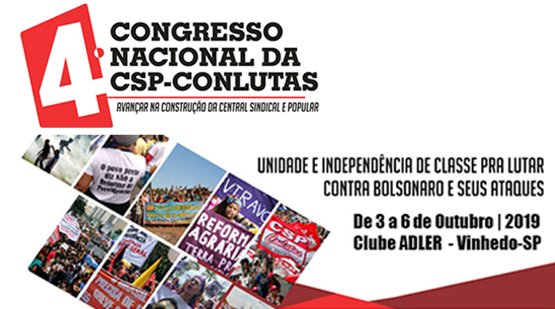 Diretores sindicais do SIMERJ participaram do 4° Congresso da CSP-Conlutas (Central Sindical e Popular)