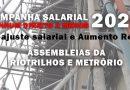 Campanha Salarial 2020 – Assembleias na RIOTRILHO e METRÔRIO