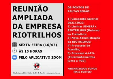16/07 – REUNIÃO AMPLIADA DA RIOTRILHOS