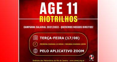 Link de participação para a ASSEMBLEIA GERAL EXTRAORDINÁRIA 11 da RIOTRILHOS