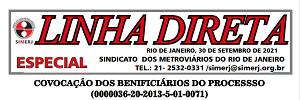 Convocação dos beneficiários do processo (0000036-20-2013-5-01-0071)